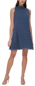 Tommy Hilfiger Petite Geo-Print Shift Dress