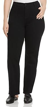 Liverpool Los Angeles Plus Liverpool Plus Sadie Straight-Leg Jeans in Black Rinse