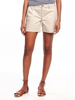 "Old Navy Mid-Rise Everyday Khaki Shorts for Women (5"")"