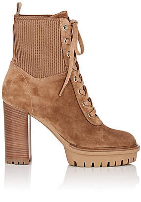 Gianvito Rossi Women's Martis Suede Ankle Boots - Lt. brown
