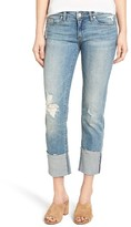 Blank NYC Women's Blanknyc Lost & Found Cuffed Straight Leg Jeans