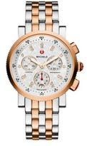 Michele Sport Sail 18 Diamond & Two-Tone Stainless Steel Chronograph Bracelet Watch