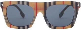 Burberry Vintage Check rectangular-frame sunglasses