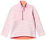 Joules Pink Stripe Half Zip Fleece