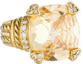 Judith Ripka 18K Canary Crystal & Diamond Cocktail Ring