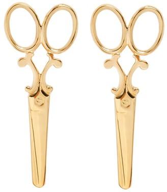 Scissor Earrings In Yellow Gold