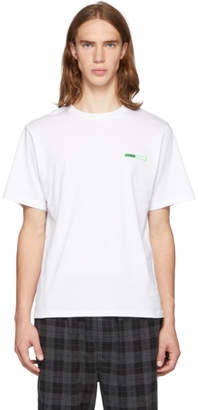 Opening Ceremony SSENSE Exclusive White and Green Logo T-Shirt
