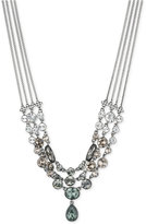 Givenchy Hematite-Tone Multi-Row Crystal Collar Necklace