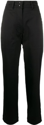 Tom Ford High-Rise Straight-Leg Satin Trousers