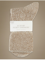 M&S Collection Luxury Pure Cashmere Heavyweight Ankle Socks