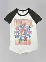 Junk Food Clothing Kids Girls Grateful Dead Short Sleeve Raglan-su/jb-xs