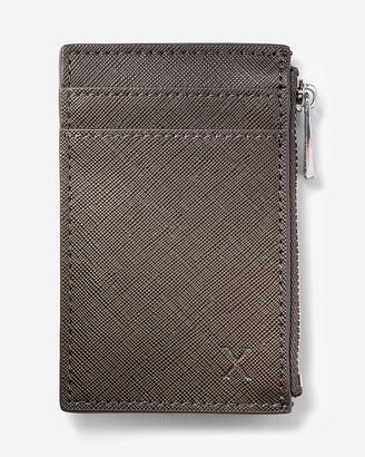 Express Textured Vegan Leather Card Case & Lanyard