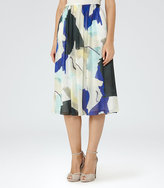 Reiss Sia Printed Midi Skirt