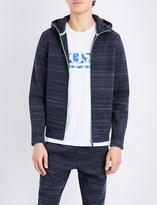 HUGO BOSS Tonal stripe jersey sweatshirt