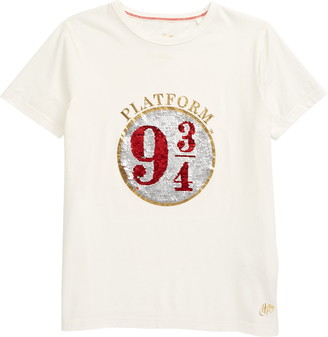 Boden x Harry Potter Platform 9 3/4 Sequin Graphic Tee