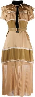 Sacai short-sleeve maxi dress