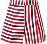 Thom Browne striped mini shorts - women - Silk/Cotton - 42