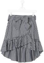 Lapin House - checked ruffled skirt - kids - Cotton - 14 yrs