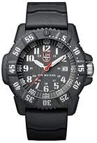 Luminox Carbon SEAL Men's Quartz watch with Silver dial featuring LLT light Technology 46 millimeters Carbon Compound case and Grey Rubber Strap XS.3801