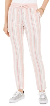 Tommy Hilfiger Striped Drawstring Pants
