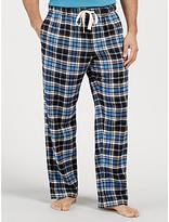 John Lewis Burley Check Brushed Cotton Lounge Pants, Navy