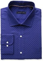 Tommy Hilfiger Men's Non Iron Regular Fit Dot Print Spread Collar Dress Shirt