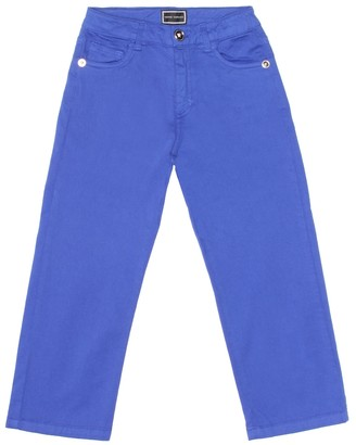 Versace Kids Stretch-cotton straight jeans