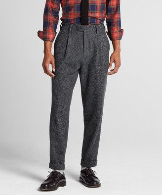Todd Snyder Donegal Wool Madison Pleated Suit Trouser in Charcoal