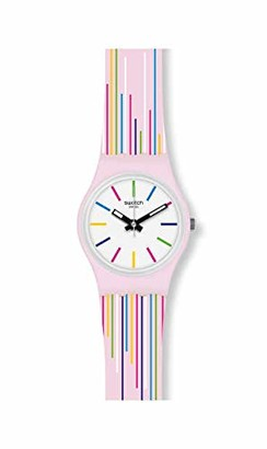 Swatch Women's Swiss Quartz Watch with Silicone Strap