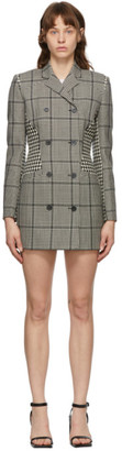 Marine Serre Black and White Wool Houndstooth Blazer