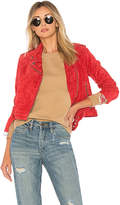 Obey x Debbie Harry St. Mark Moto Jacket in Red. - size L (also in M,S,XS)