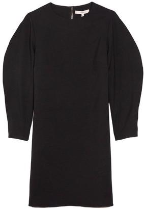 Tibi Chalky Drape Origami Shift Dress in Black
