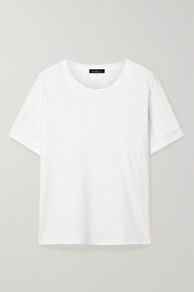 The Range Ribbed Tencel And Cotton-blend Jersey T-shirt - White