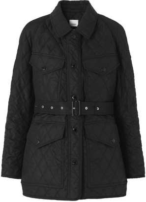 Burberry Diamond-Quilted Field Jacket