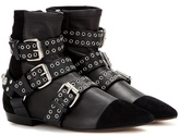Isabel Marant Rolling Leather And Suede Ankle Boots