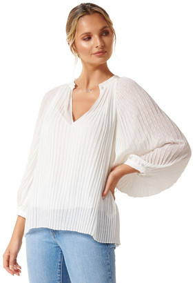 Forever New Brittany Pleated Blouse