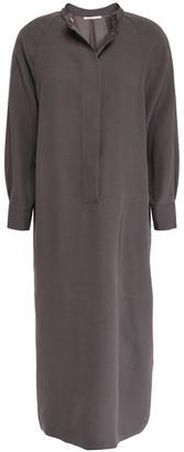 Agnona Satin-crepe Shirt Dress
