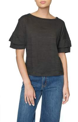4our Dreamers Grey Ruffle Tee