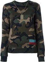 Valentino ID Camouflage sweatshirt - women - Cotton/Polyamide - M