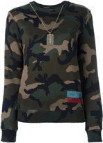 Valentino ID Camouflage sweatshirt - women - Cotton/Polyamide - S