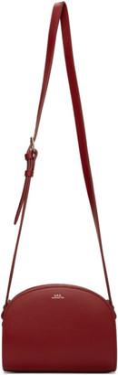 A.P.C. Red Mini Demi-Lune Bag