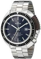 Edox Men's Watch Hydro Sub Analogue Quartz Leather 53200 3NGM Gin