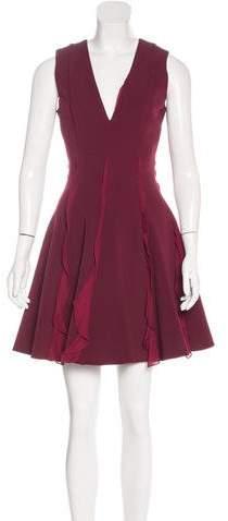 Cushnie et Ochs Ruffle-Trimmed Mini Dress