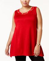 Belldini Plus Size Embellished Tunic