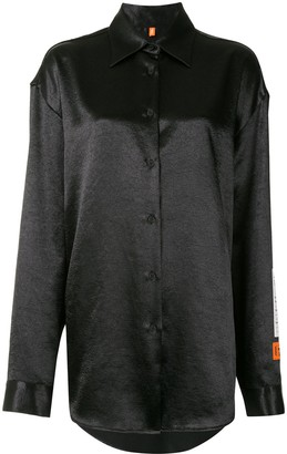 Heron Preston Logo Patch Long-Sleeved Shirt