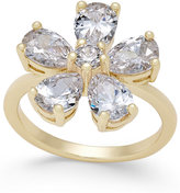 Charter Club Gold-Tone Crystal Flower Ring, Only at Macy's