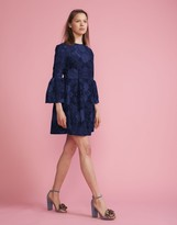 Cynthia Rowley Floral Lace Ruffle Sleeve Dress