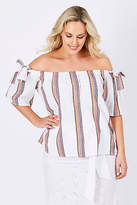 NEW Solito Womens Blouses Isa Top Stripe