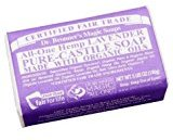 Dr. Bronner's Fair Trade & Organic Bar Soap - Lavender 5oz. (Pack of 6)