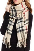 Fraas Exploded Plaid Cashmere Scarf